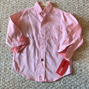 Izod Boys Toddler 3T Light Red Button Down